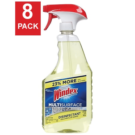 buy popular 92202 31e9e Windex® Antibacterial Multi-Surface Cleaner - 32 oz Spray Bottle 8 Bottles  / Case F00029 | Lumi Maintenance Supply